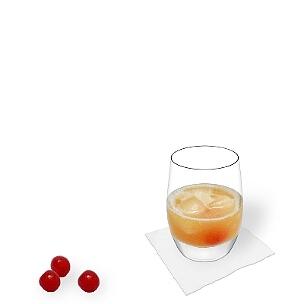 A lo mejor sirves Amaretto Sour en un vaso Tumbler.