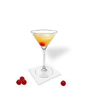 Copas de Martini son una buena alternativa para presentar Amaretto Sour.