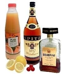 Ingredientes para Amaretto Sour
