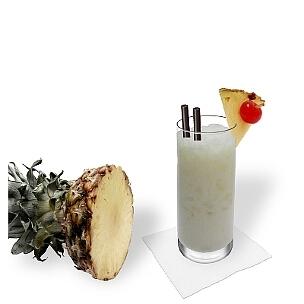 A lo mejor presentas Batida de Coco en vasos largos o vasos huracánes.