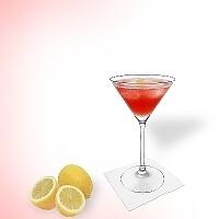 Cosmopolitan en un vaso martini.