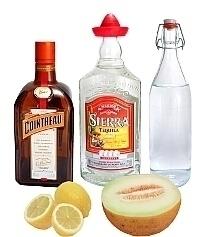Ingredientes para Frozen Melon Margarita: Con Melón Fresco (éstandar)