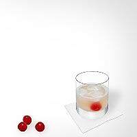 Gin Sour en un vaso alto.