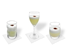 Diferentes decoraciones para Pisco Sour