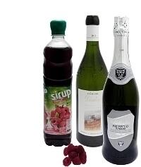Ingredientes para Ponche de Frambuesa: Con Jarabe de Frambuesa (estándar)